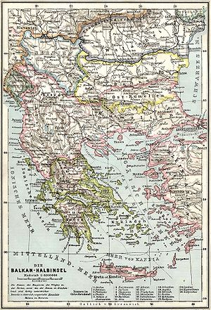 Kosovo Vilayet - Image: Balkans at 1905