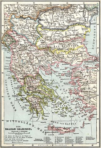 Balkan League - The Balkans at the time of the formation of the Balkan League, before the Balkan Wars.