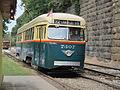 Baltimore PCC 7407, operating at Baltimore Streetcar Museum.JPG