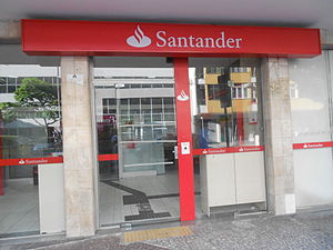 Banco Santander - Santander bank in Rio de Janeiro, Brazil
