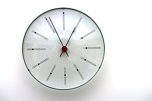 """""""Bankers"""" wall clock by Arne Jacobsen"""