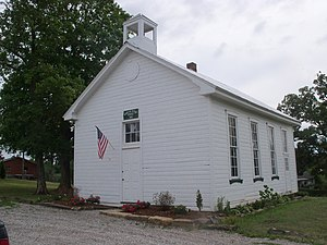 National Register of Historic Places listings in Jefferson County, Ohio - Image: Bantam Ridge School 2012 07 13