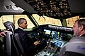 Barack Obama in a Boeing 787 cockpit.jpg