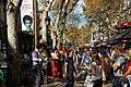 Barcelona - Rambla dels Caputxins - View NNW - 'Pilar' National Holiday in Spain.jpg