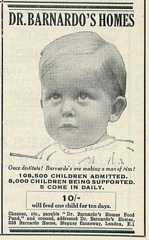 Barnardo's - A 1931 advertisement for Dr Barnardo's Homes.