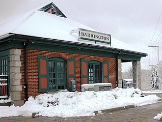 Barrington, Illinois - Barrington train station for the Metra train line from Harvard to Chicago