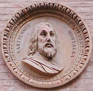 Bartolomeo Montagna - Relief of Bartolomeo Montagna on the Palazzo Thiene in Vicenza