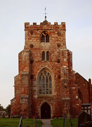 Baschurch - Image: Baschurch Church front