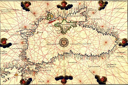 Battista Agnese map of the Black Sea (A)