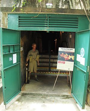 The Battle Box - One of the entrances to the Battle Box museum