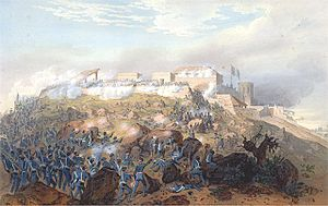 English: Battle of Chapultepec during the Mexi...