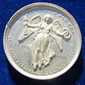 Battle of the Nations 1813 Pewter Medal 1863, obverse.jpg