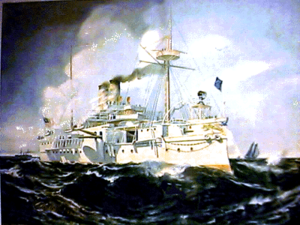 Battleship Maine litho.png