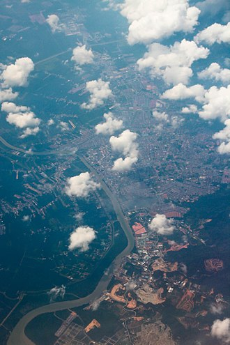 Batu Pahat (town) - Satelite view of Batu Pahat