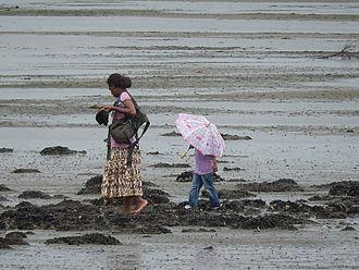 Beachcombing - Beachcombing in Suva, Fiji