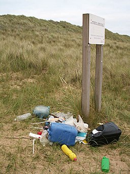 Beach litter, Winterton Dunes - geograph.org.uk - 966905