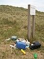 Beach litter, Winterton Dunes - geograph.org.uk - 966905.jpg