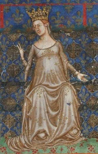 Beatrice of Provence - Queen Beatrice from the Bible of Naples