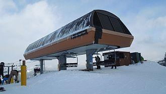 Leitner-Poma - A 1990 Poma high speed quad, the Beaver Run SuperChair at Breckenridge Ski Resort, Colorado