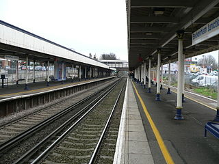 combined railway station and a tram terminus in Beckenham, Bromley, London