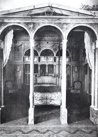 Palacio de La Moncloa before the Spanish Civil War - Bedchamber of the Duchess, Palacio de La Moncloa before the Spanish Civil War (photo taken in 1920).