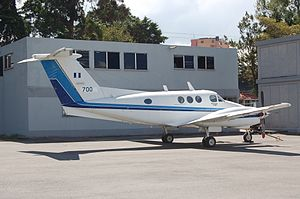 Beechcraft King Air - A T-tail F90 of the Guatemalan Air Force