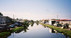 Kanal i Belize City.