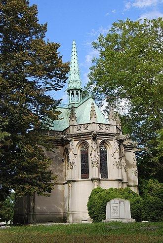Oliver Belmont - Belmont's final resting place, the Belmont Mausoleum in Woodlawn Cemetery.