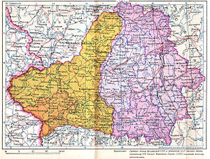 Reichskommissariat Ostland - Image: Belorussian SSR in 1940 after annexation of eastern Poland