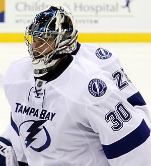 Ben Bishop - Bishop with the Tampa Bay Lightning in 2013
