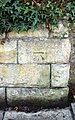 Benchmark at Bebington War Memorial.jpg