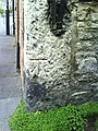 Benchmark on gatepost integrated into ^96 High Street Fordington - geograph.org.uk - 2095743.jpg