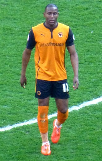Benik Afobe -  Afobe playing for Wolverhampton Wanderers in 2015