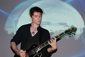 Benjamin Curtis (musician) - Curtis performing with School of Seven Bells at Bowery Ballroom in 2009