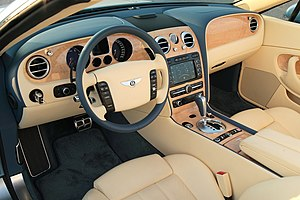 Dashboard - The dashboard of a Bentley Continental GTC car
