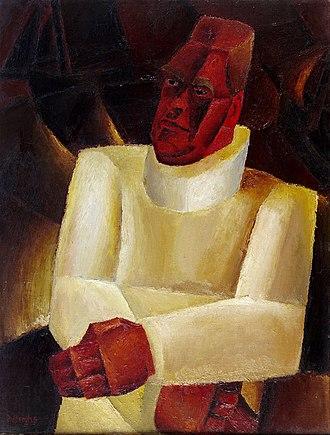 Constant Permeke - Constant Permeke, portrait by  Frits Van den Berghe (1923)