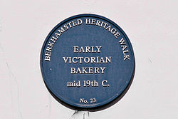 Photo of bakery, Berkhamsted blue plaque