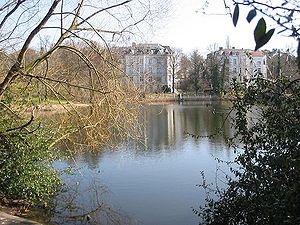 Halensee, Blick zum Ostufer
