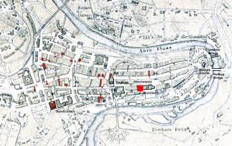 Münsterplatz (Bern) - Old City of Bern with Münsterplatz highlighted
