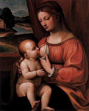 Bernardino Luini - Nursing Madonna - WGA13767