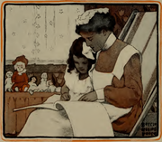 Bessie Collins Pease w R.L. Stevenson - A Child's Garden of Verses - Dodge Publishing Company, Nowy Jork, 1905, s. 78