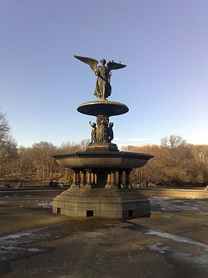 Angels in America (miniseries) - Bethesda Fountain at the Bethesda Terrace in New York City's Central Park, where many scenes were shot