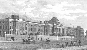 St George's Fields - Bethlem Hospital in St George's Fields by Thomas Shepherd (c.1830)