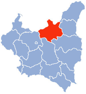 Białystok Voivodeship (1919–1939) - Location of the Białystok Voivodeship (red) within the Second Polish Republic, 1938.
