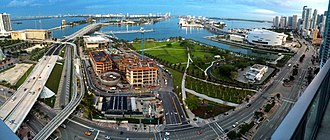 Museum Park (Miami) - Image: Bicentennial Park June 2014