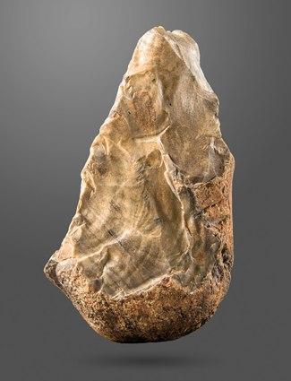 Biface (trihedral) Amar Merdeg, Mehran, Ilam, Lower Paleolithic, National Museum of Iran