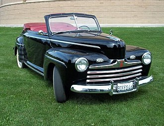 1941 Ford - Biff Tannen's 1946 Ford Super De Luxe Convertible Club Coupe from the Back to the Future franchise.