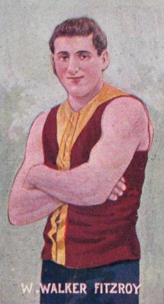 Bill Walker (Australian footballer, born 1883) - Cigarette card of Walker in 1906