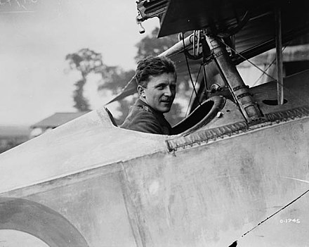 Billy Bishop Sitting In His Nieuport 23 With The Machine Gun (just Visible  At The