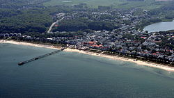 Aerial view of Binz